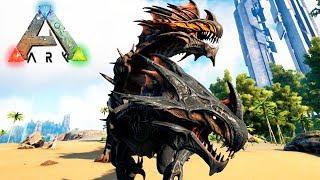 КОРОЛЕВА ЖНЕЦ И ЕЁ ДЕТЕНЫШ - ARK Survival Evolved Play as Dino