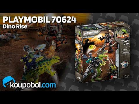 Vidéo PLAYMOBIL Dino Rise 70624 : Tyrannosaure et robot géant