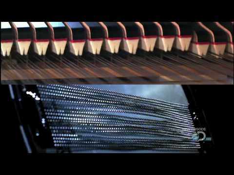 Music in slow motion - Guitar, Bass, Drum Kit, Piano and Violin