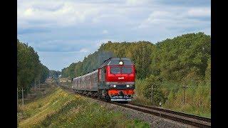 Тепловоз ТЭП70БС-243 с поездом № 468 Смоленск - Адлер