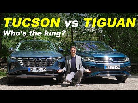 all-new Hyundai Tucson vs VW Tiguan Facelift comparison REVIEW 2021
