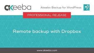 Watch a video on Remote Backup with DropBox [02:55]