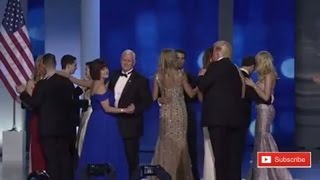 Donald Trump Does The DeploraBall Dance With Melania Trump and everyone joins in at Inaugural Balls