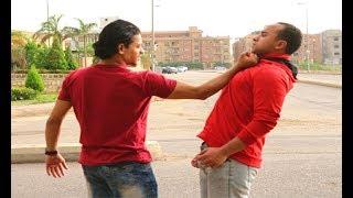 تعلم طريقة التخلص من الحركة الغبية - مسك الفانلة من الرقبة / قتال الشارع T-shirt grab MMA