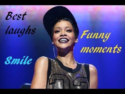 Rihanna - Lots of laugh and funny moments (видео)