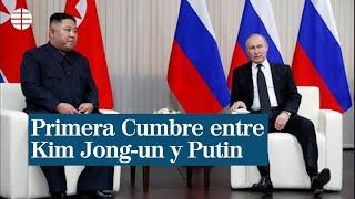 """Putin aplaude ante Kim Jong-un """"los esfuerzos norcoreanos para normalizar las relaciones con EEUU"""""""