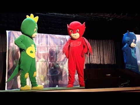 Kuzenler Pijamaskeliler müzikal tiyatrosun da|| baykuş kız || aykız || romeo || kedi | kertenkele