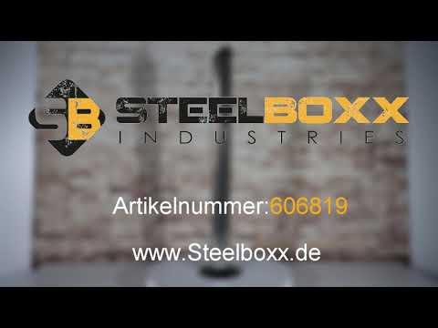 Standaschenbecher 606819  Steelboxx Standaschenbecher, Edelstahl, 92 x 7,6 cm