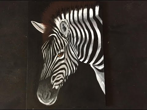 How to paint a zebra