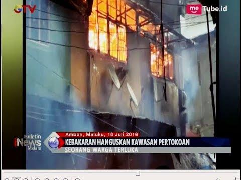 Terjebak Kebakaran, Seorang Warga Lompat dari Ruko di Ambon - BIM 16/07