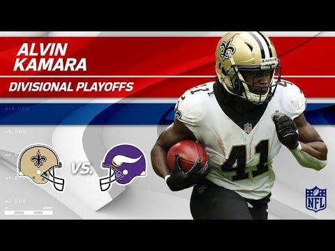 Alvin Kamara's 105 Total Yards & 1 TD! | Saints vs. Vikings | Divisional Round Player HLs