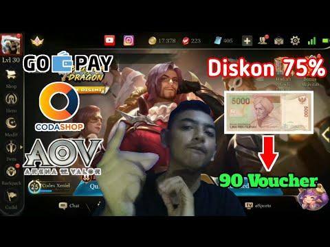 Top up Voucher/Diamond Diskon 75% Di Coda Shop Pembayaran Melalui Go Pay!