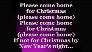Jon Bon Jovi - Please Come Home For Christmas (Lyrics)