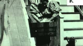 Archive footage of Victorian Woman Doing Housework