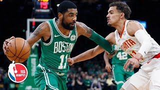 Kyrie Irving flirts with triple-double, Trae Young scores 26 | Hawks vs. Celtics | NBA Highlights