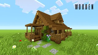 Minecraft Christmas Houses.Minecraft How To Build Wooden House Tutorial Best