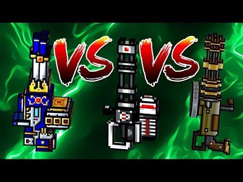 Pixel Gun 3D - Excalibur VS Champion Peacemaker VS Hand Gatling