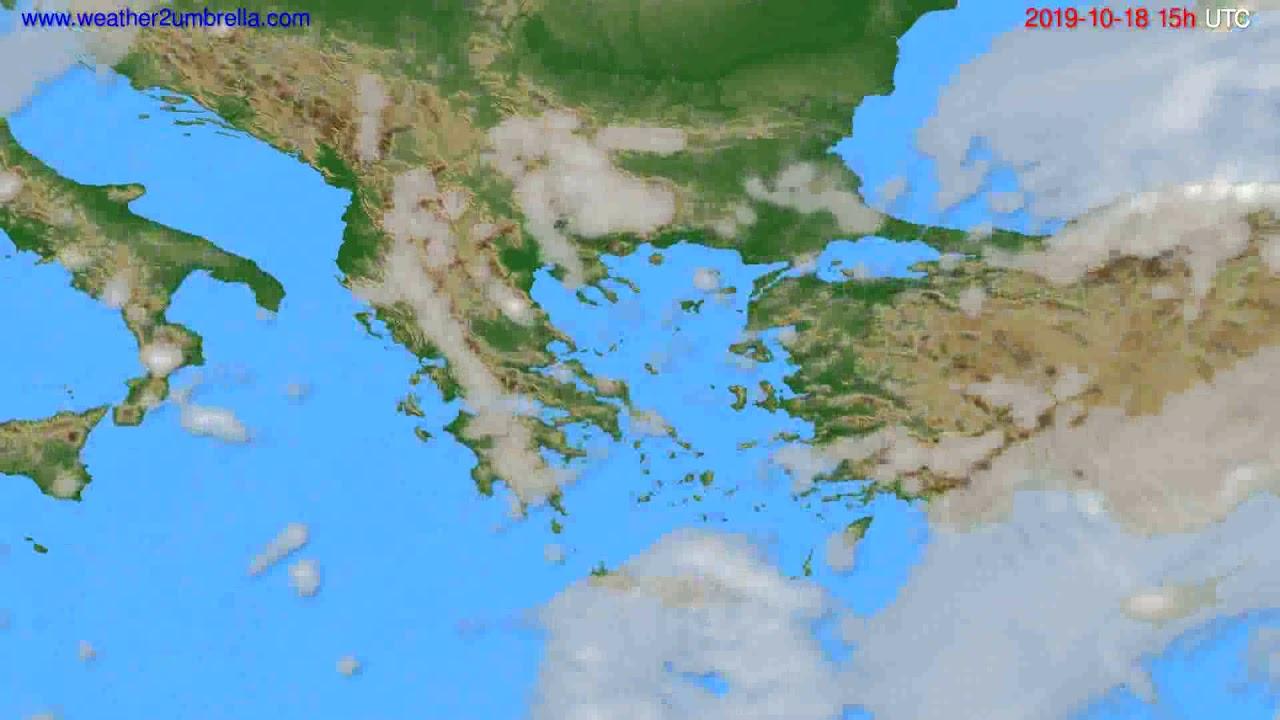 Cloud forecast Greece // modelrun: 12h UTC 2019-10-15