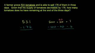 Subtraction Word Problem