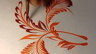 pintando uma técnica com nome de Escova de cabelo de gato