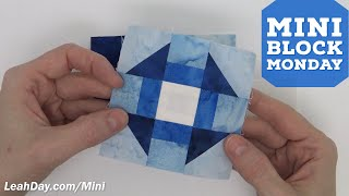 How To Piece A Mini Churn Dash Quilt Block - Mini Block Monday #1