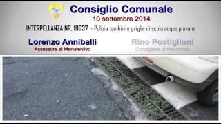 preview picture of video 'Pulizia tombini e griglie di scolo acque piovane - CONSIGLIO COMUNALE 10.09.14'