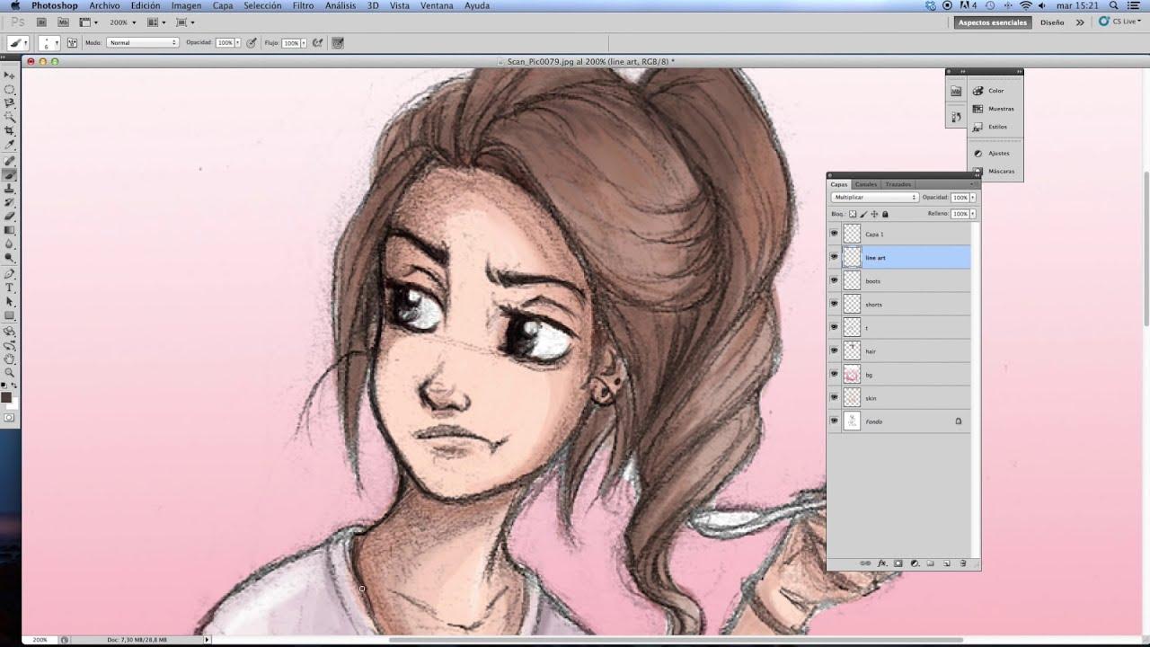 digital colouring tutorial