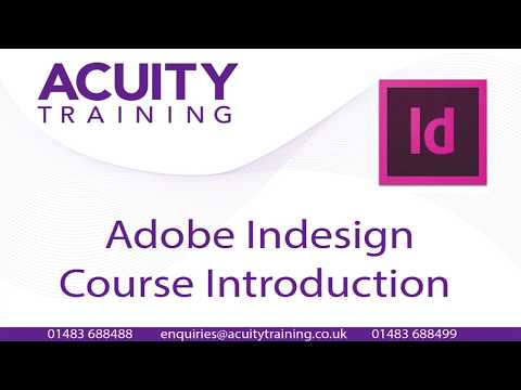 Indesign Introduction/Intermediate course - Course Content - YouTube