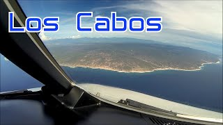 Landing in Los Cabos, Mexico.