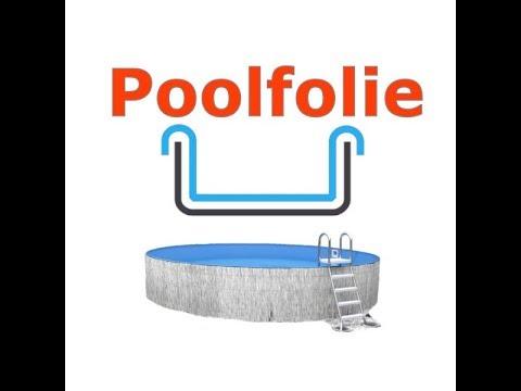 Montage der Pool-Innenfolie