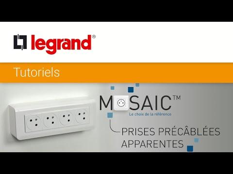 Remplacer une prise apparente par des prises précâblées Mosaic Surface Legrand