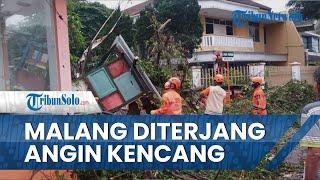 Bencana Angin Kencang Disertai Hujan dan Petir Melanda Kota Malang hingga Porak Poranda