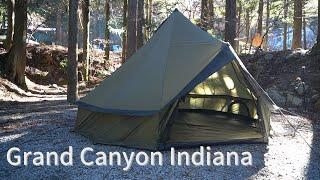 【グランドキャニオン】インディアナ/ファミリーテント グランドシート一体型 [Grand Canyon] Indiana / Family Tent