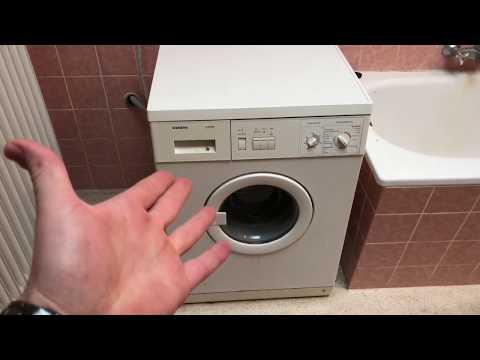Waschmaschine auseinander nehmen und Erklärung der Funktionsweise Waschmaschinen Demontage Anleitung