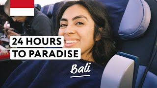 Flying from STOCKHOLM to BALI | INDONESIA  (arriving in paradise)