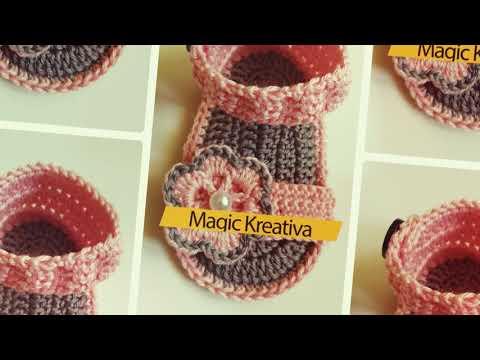 Heklane sandale za bebe (crochet baby sandals)