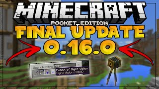 Gambar cover MCPE 0.16.0 UPDATE FINAL RELEASE - NPC Deleted & No Search Bar - Minecraft PE (Pocket Edition)