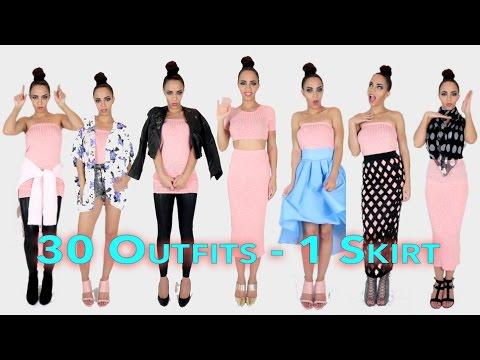30 Trang Phục Phối Cùng 1 Chiếc Váy