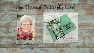 Pop Through Butterfly Card