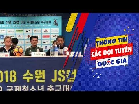 HLV Hoàng Anh Tuấn đặt mục tiêu cọ xát học hỏi tại giải U19 quốc tế Suwon JS Cup 2018   VFF Channel
