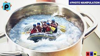 Photo Manipulation || PicsArt Tutorial || River Rafting in Vessel || HD