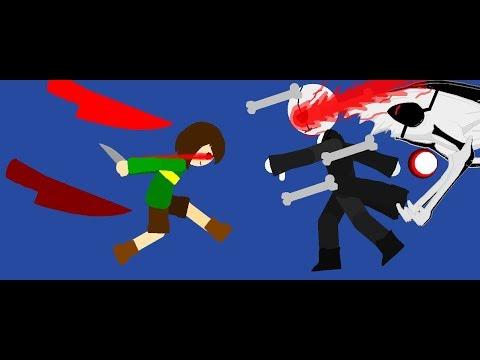 Chara vs Gaster and Error sans Part 1 (Pivot Animation) - Gökay2