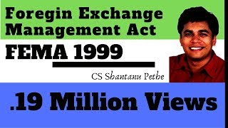 FEMA 1999 | Foreign Exchange Management Act 1999 | FEMA Part 1/8