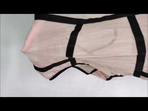 Elegantní body Nudelia teddy nude - Obsessive