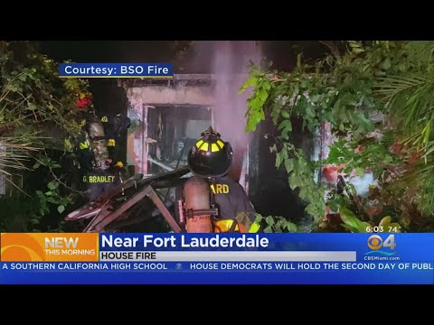 Broward Home Goes Up In Flames