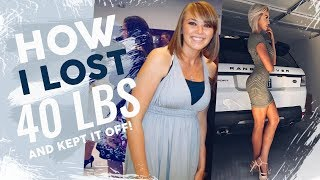 How I Lost 40 Pounds