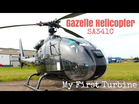 Gazelle Helicopter SA341C - First Time Flying a Turbine