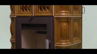 Опалювальна піч-камін Haas + Sohn Treviso 2 Зелена з кахельною ніжкою (Кахельна піч, камінофен) від компанії House heat - відео