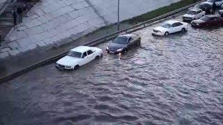 Последствия урагана и ливня в г.Семей. 14.06.2015
