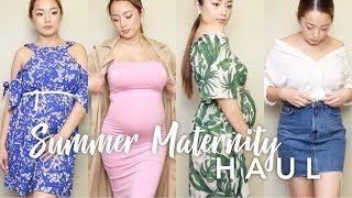 Summer Maternity Fashion Try-On Haul | Sophia Thao